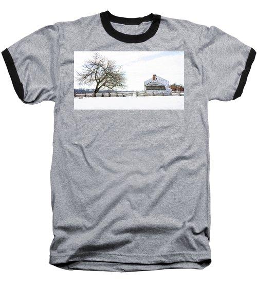 Winter White Out Baseball T-Shirt by Debra Fedchin