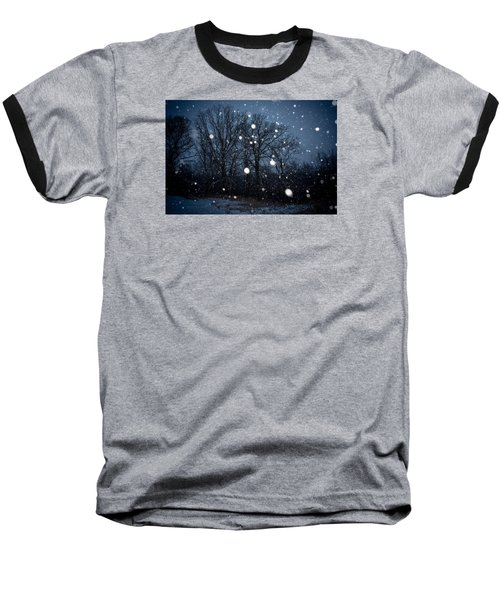 Winter Wonder Baseball T-Shirt by Annette Berglund