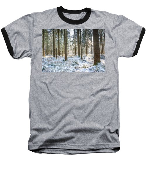 Baseball T-Shirt featuring the photograph Winter Wonderland by Hannes Cmarits