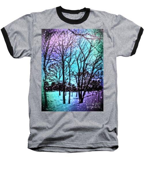 Winter Wonderland Painting Baseball T-Shirt