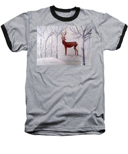 Winter Wonderland - Painting Baseball T-Shirt