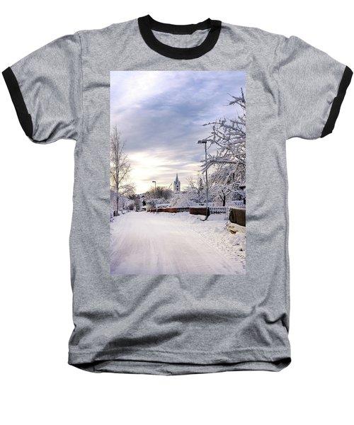 Winter Wonderland Redux Baseball T-Shirt by Marius Sipa