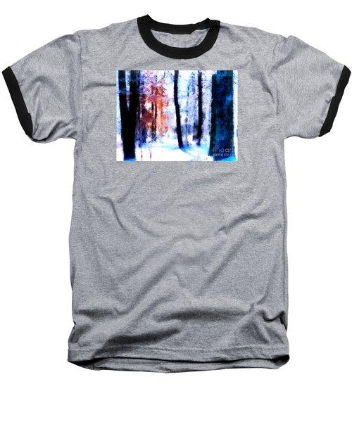 Winter Woods Baseball T-Shirt by Craig Walters