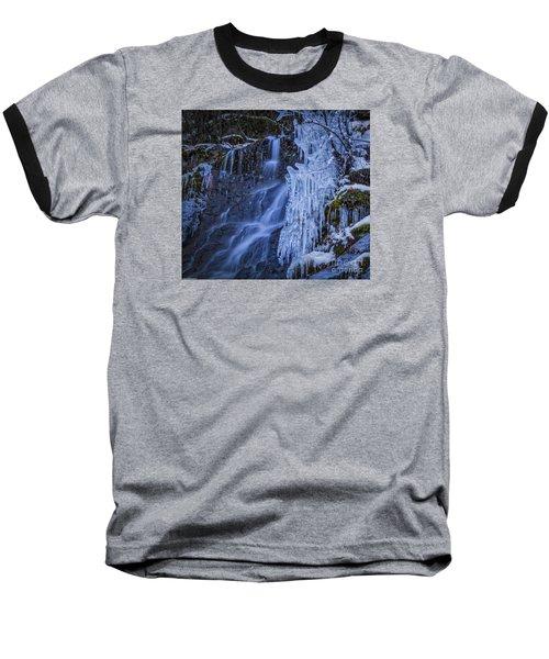 Winterfalls Baseball T-Shirt by Mitch Shindelbower