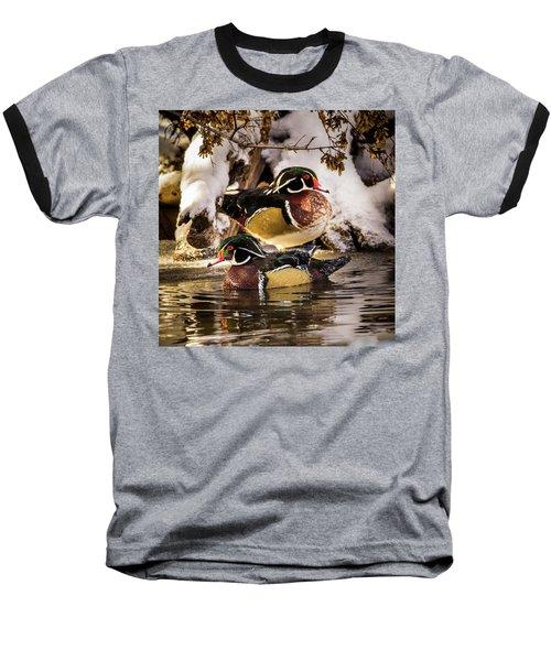 Wintering Wood Ducks Baseball T-Shirt