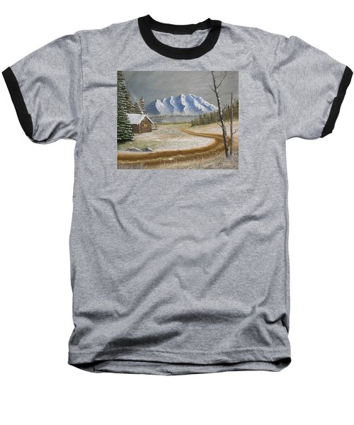 Winter's Arrival Baseball T-Shirt by Sheri Keith