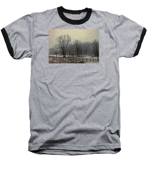 Winter's First Snowfall Baseball T-Shirt