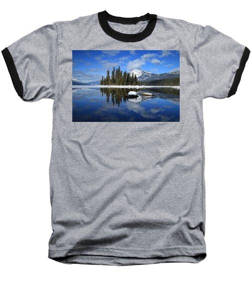Winters Mirror Baseball T-Shirt by Lynn Hopwood