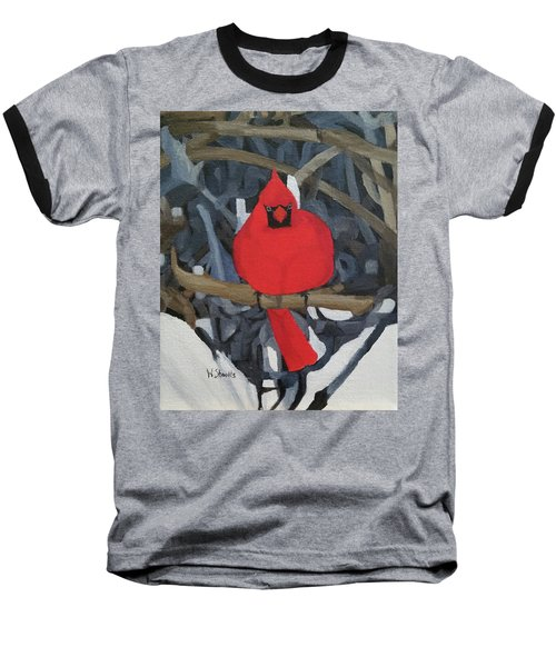 Baseball T-Shirt featuring the painting Winters Refuge by Wendy Shoults