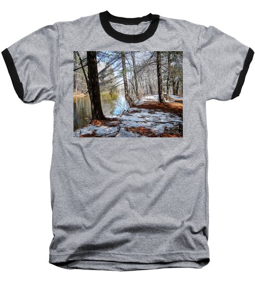 Winter's Remains Baseball T-Shirt by Betsy Zimmerli
