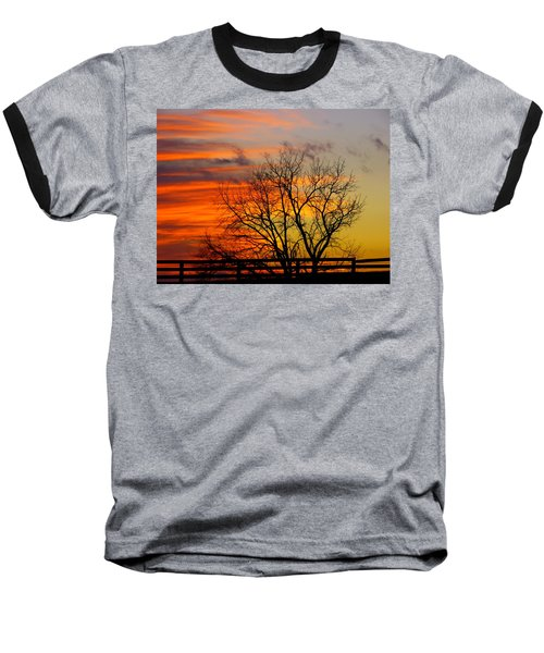 Winter's Scene Baseball T-Shirt by Donald C Morgan