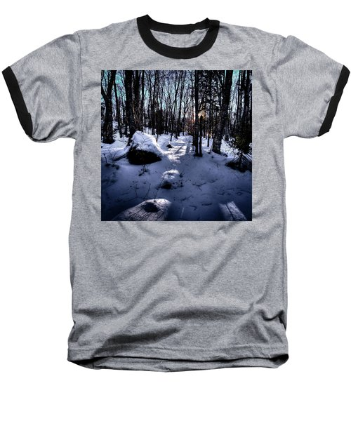 Baseball T-Shirt featuring the photograph Winters Shadows by David Patterson