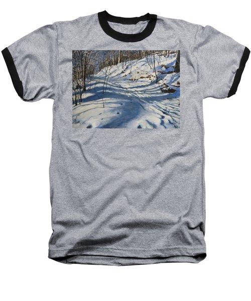 Winter's Shadows Baseball T-Shirt