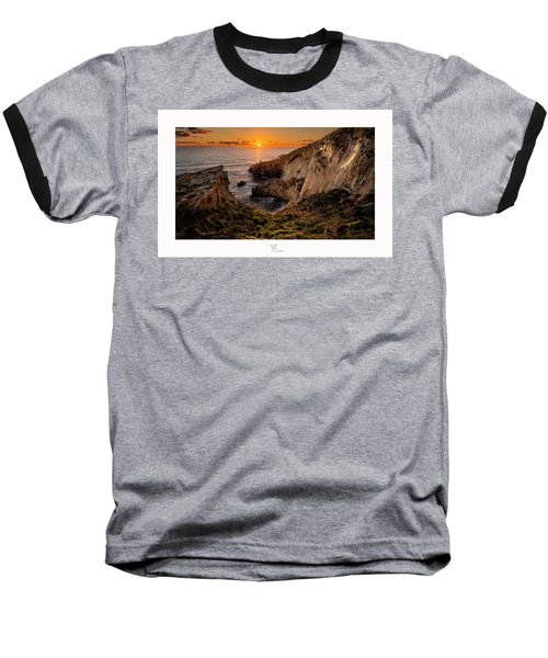 Winter's Sunset Baseball T-Shirt