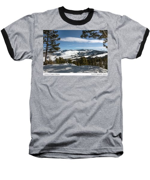 Wintertime View From Hellroaring Overlook In Yellowstone National Park Baseball T-Shirt by Carol M Highsmith