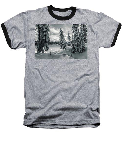 Winter Wonderland Harz In Monochrome Baseball T-Shirt by Andreas Levi