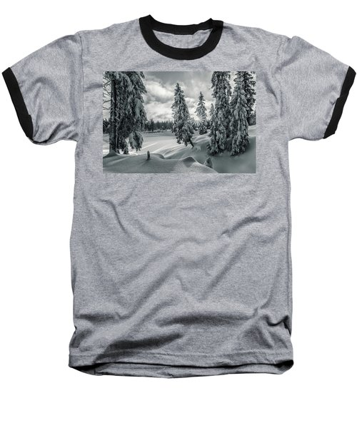 Winter Wonderland Harz In Monochrome Baseball T-Shirt