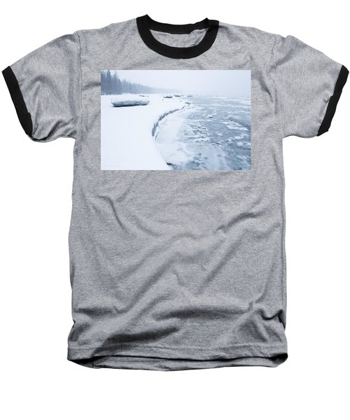 Wintry Coast Baseball T-Shirt