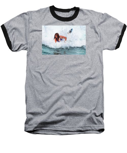 Wipeout - Painterly Baseball T-Shirt by Scott Cameron