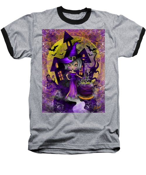 Wisdom Witch Fantasy Art Baseball T-Shirt