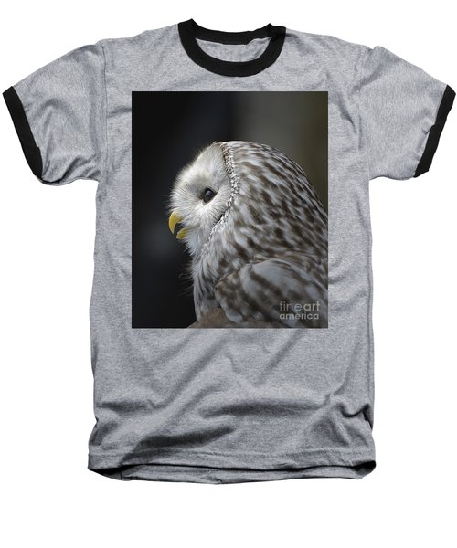 Wise Old Owl Baseball T-Shirt by Kathy Baccari