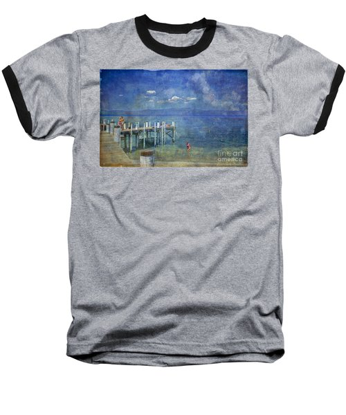 Baseball T-Shirt featuring the photograph Wish You Were Here Chambers Landing Lake Tahoe Ca by David Zanzinger