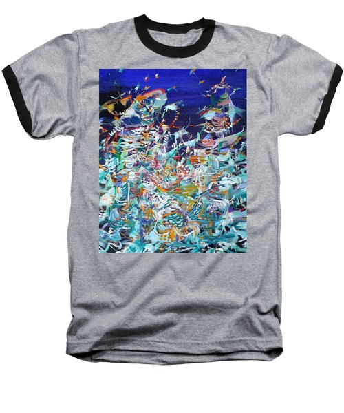 Baseball T-Shirt featuring the painting Wishes by Fabrizio Cassetta