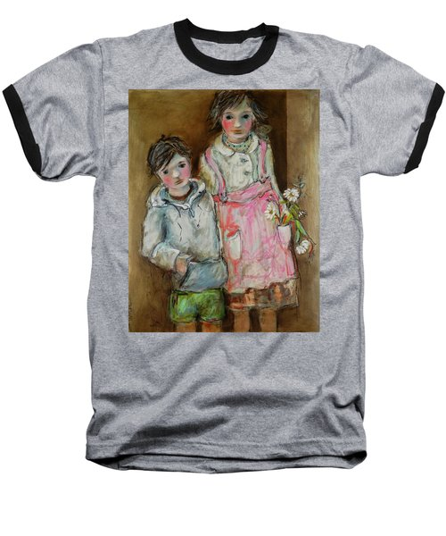 Wishes On A Daisy Baseball T-Shirt by Sharon Furner