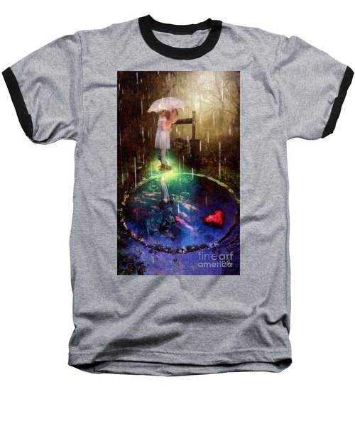 Baseball T-Shirt featuring the painting Wishing Well by Mo T