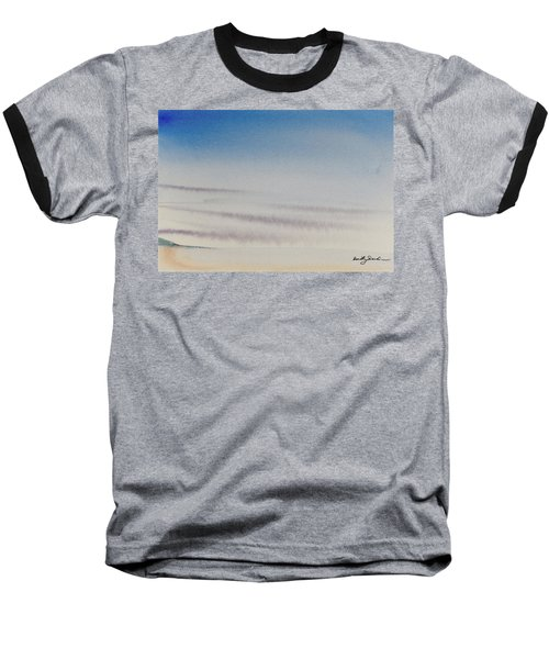 Wisps Of Clouds At Sunset Over A Calm Bay Baseball T-Shirt