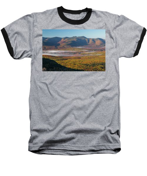 Wispy Autumn Tripyramid Sunrise Baseball T-Shirt