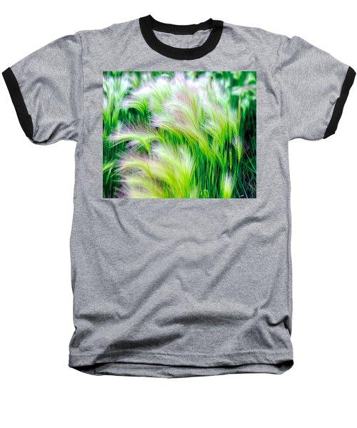 Wispy Green Baseball T-Shirt