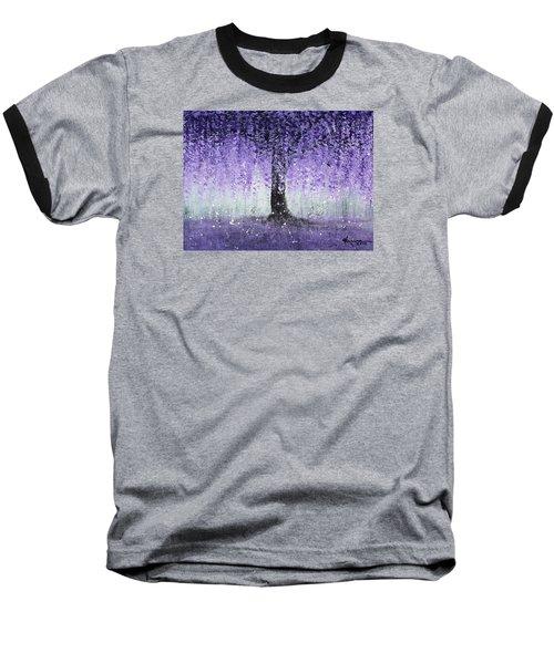Wisteria Dream Baseball T-Shirt by Kume Bryant