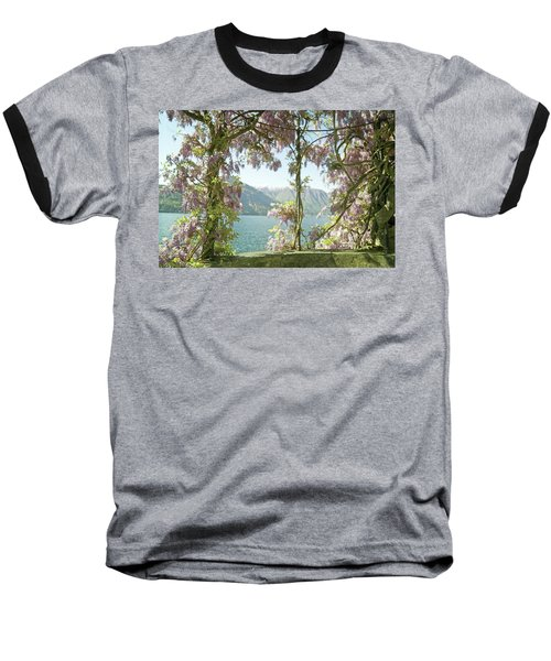 Wisteria Trellis Lago Di Como Baseball T-Shirt by Brooke T Ryan