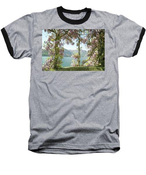 Wisteria Trellis Lago Di Como Baseball T-Shirt
