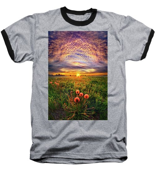 Baseball T-Shirt featuring the photograph With Gratitude by Phil Koch