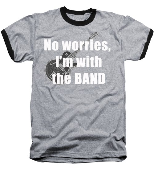 With The Band Tee Baseball T-Shirt by Edward Fielding