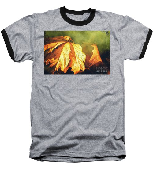 Baseball T-Shirt featuring the photograph Withered Leaves by Silvia Ganora