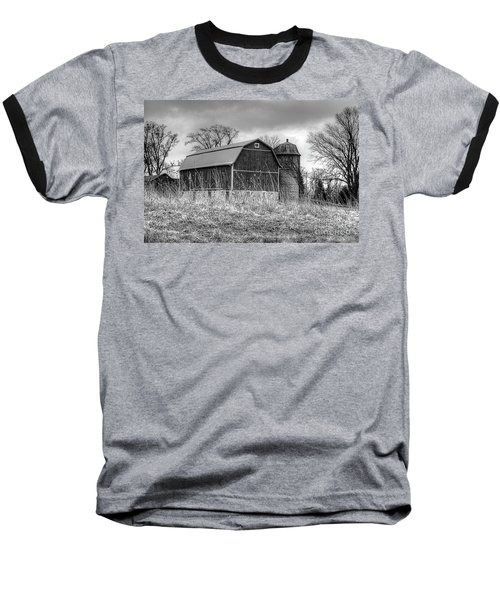 Withered Old Barn Baseball T-Shirt by Deborah Klubertanz
