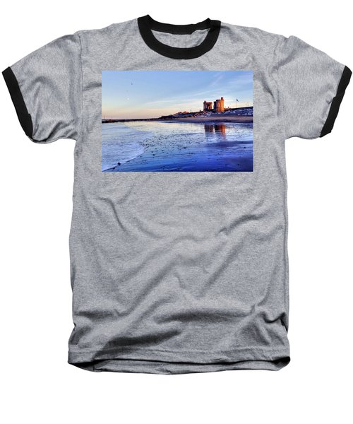 Withernsea Sunset And Moon Baseball T-Shirt