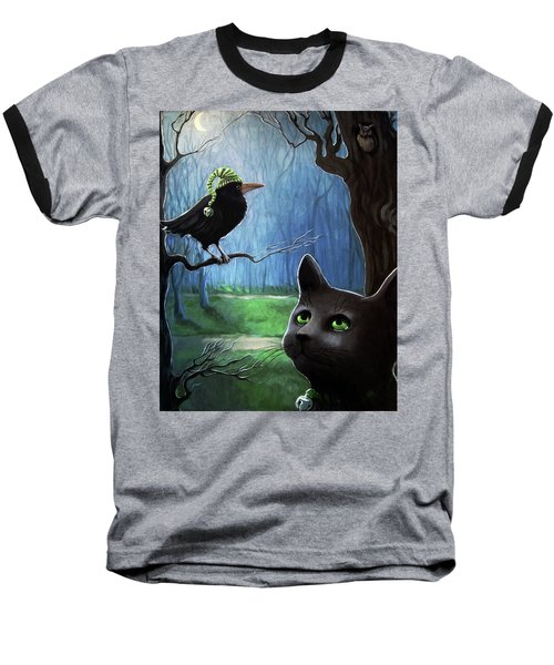 Wit's End - Winter Nightime Forest Baseball T-Shirt
