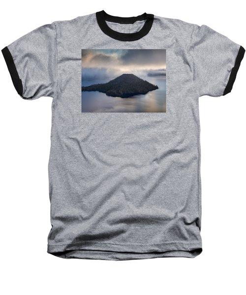 Wizard Among The Mists Baseball T-Shirt by Greg Nyquist