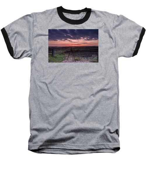 Wolds Sunset 2 Baseball T-Shirt