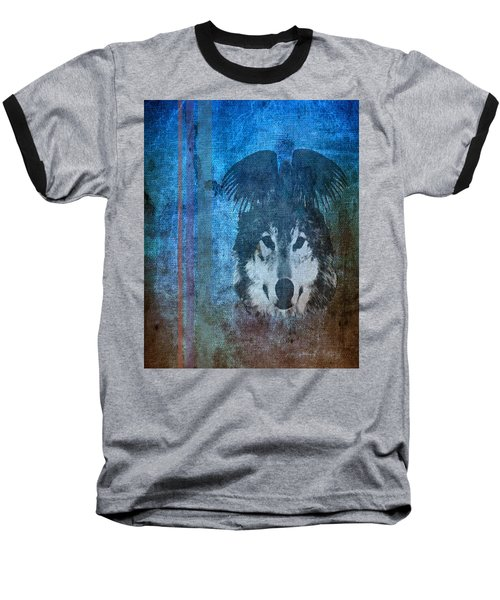 Wolf And Raven Baseball T-Shirt