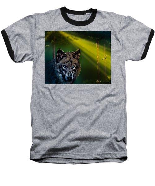 Wolf Of The Dark Wood Baseball T-Shirt