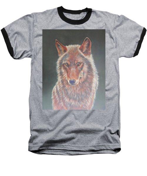Wolf Portrait Baseball T-Shirt
