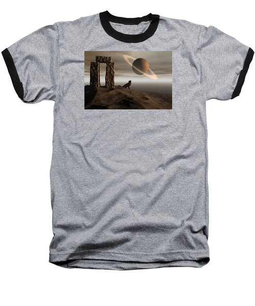 Baseball T-Shirt featuring the digital art Wolf Song by Claude McCoy