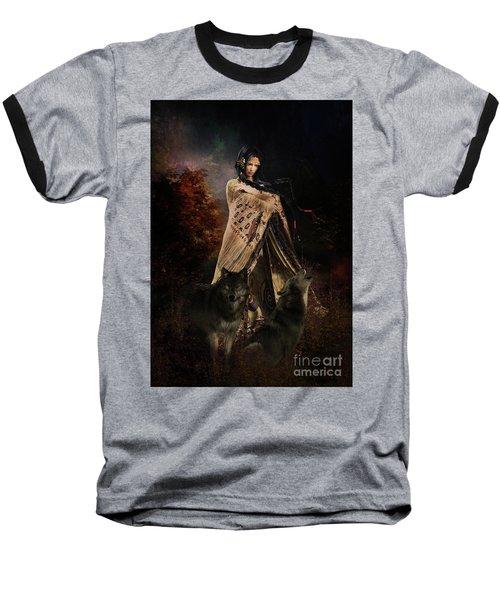 Wolf Song Baseball T-Shirt