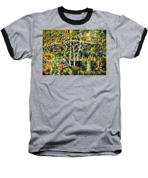 Baseball T-Shirt featuring the painting Wolven Moon by Alfred Motzer