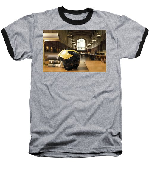 Wolverine Helmet In Law Library Baseball T-Shirt